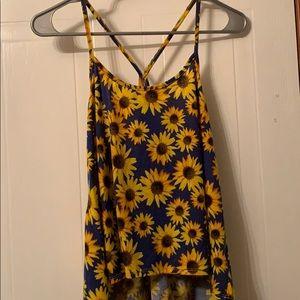LA Hearts sunflower tank top